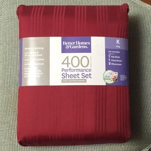 Better Homes & Gardens Burgundy Bedsheet Set King